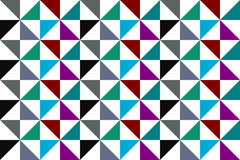 Abstract Seamless multicolored triangles pattern Stock Photography