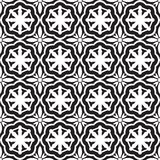 Abstract seamless op black & white nautical pattern Stock Photos
