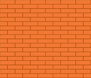 Abstract seamless orange flat brick wall vector illustration