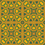 Abstract seamless ornament. Abstract seamless pattern green yellow background, EPS8 - vector graphics Royalty Free Stock Photography