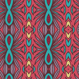Abstract seamless ornament pattern. the kaleidoscope effect. Ethnic damask motif. Vintage style pattern. Vector illustration Stock Photo