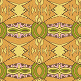 Abstract seamless ornament pattern. the kaleidoscope effect. Ethnic damask motif Stock Photography