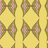Abstract seamless ornament pattern. the kaleidoscope effect. Ethnic damask motif Royalty Free Stock Photography
