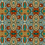 Abstract seamless ornament pattern. the kaleidoscope effect. Ethnic damask motif Royalty Free Stock Photos
