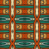 Abstract seamless ornament pattern. the kaleidoscope effect. Ethnic damask motif Royalty Free Stock Images