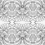 Abstract seamless ornament pattern. the kaleidoscope effect. Ethnic damask motif. Vintage style pattern. Vector illustration Royalty Free Stock Photo