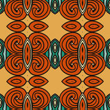 Abstract seamless ornament pattern. the kaleidoscope effect. Ethnic damask motif Royalty Free Stock Photo