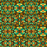 Abstract seamless ornament pattern. the kaleidoscope effect. Ethnic damask motif Stock Images