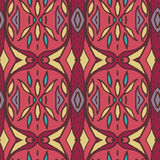 Abstract seamless ornament pattern. the kaleidoscope effect. Ethnic damask motif. Vintage style pattern. Vector illustration Stock Image
