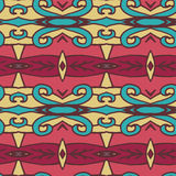Abstract seamless ornament pattern. the kaleidoscope effect. Ethnic damask motif. Vintage style pattern. Vector illustration Stock Photography
