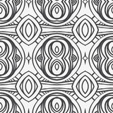 Abstract seamless ornament pattern. the kaleidoscope effect. Ethnic damask motif. Vintage style pattern. Vector illustration Royalty Free Stock Image