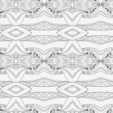 Abstract seamless ornament pattern. the kaleidoscope effect. Ethnic damask motif. Vintage style pattern. Vector illustration Royalty Free Stock Images