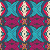 Abstract seamless ornament pattern. the kaleidoscope effect. Ethnic damask motif Royalty Free Stock Image