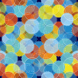 Abstract seamless ornament pattern vector illustration. Abstract seamless pattern. Ornament of multicolored circles Royalty Free Stock Photography