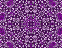 Abstract seamless ornament violet purple white. Abstract geometric seamless background. Delicate concentric floral ornament with white and violet elements on Royalty Free Illustration