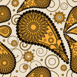 Abstract seamless paisley pattern Royalty Free Stock Images