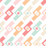 Abstract seamless pastel geometric elements pattern on white Stock Photography