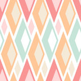 Abstract seamless pastel triangles pattern on white Stock Photography