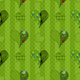 Abstract seamless patchwork pattern with hearts background Stock Images