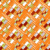 Abstract seamless patchwork pattern texture background Royalty Free Stock Photo