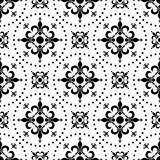 Abstract Seamless Pattern [1]. An abstract seamless pattern with fleurs de lys, black on white background. Useful as design element for texture, pattern Royalty Free Stock Photo