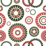 Abstract seamless pattern. Abstract seamless white pattern with concentric circles Stock Photo
