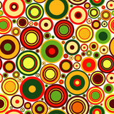 Abstract seamless pattern. With concentric colorful circles Royalty Free Stock Photos