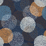 Abstract Seamless Pattern. With blue, gray and orange circles Stock Photography