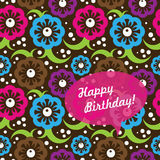 Abstract seamless pattern. Birthday card with abstract seamless pattern Stock Images