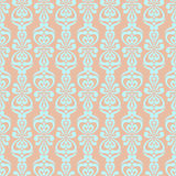 Abstract Seamless Pattern. Abstract blue Seamless Ornamental Pattern on a beige background Royalty Free Stock Photos