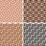 Abstract seamless pattern. 4 color variants Stock Photography