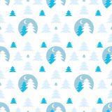 Abstract seamless pattern. Abstract seamless background with firtrees Royalty Free Stock Images