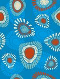 Abstract seamless pattern. Great  seamless wallpaper with circular shapes Stock Photo