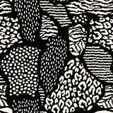Abstract seamless pattern with animal print. Trendy hand drawn textures. Stock Photography