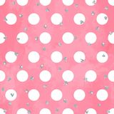 Abstract seamless pattern on aquarelle background. Abstract seamless pattern on aquarelle background with circles Royalty Free Stock Image