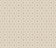Abstract seamless pattern. Arabic line ornament with geometric shapes