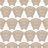 An abstract seamless pattern. The arc pattern brown palette. Illustration vector Royalty Free Stock Photos