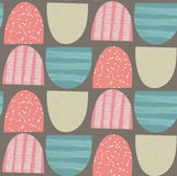Abstract seamless pattern. Arched textured shapes. Colorful creative repeating background. It can be used for wallpaper, textiles, wrapping, card, cover vector illustration