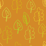 Abstract seamless pattern, autumn leaf background. fallen leaves Stock Photos