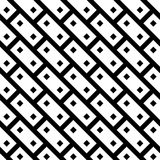 Abstract seamless pattern background. Black brick design elements in diagonal arrangement isolated on white background Stock Photos