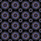 Abstract seamless pattern background. Blue flower Stock Photos