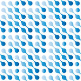 Abstract seamless pattern background of blue gradient connected dots in diagonal arrangement. Rainy day theme. Vector Royalty Free Stock Images