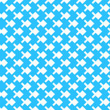 Abstract seamless pattern background with cubic pixel fish. Abstract art vector ornament. Royalty Free Stock Images