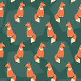 Abstract seamless pattern background with funny cartoon ginger f Royalty Free Stock Images