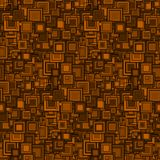 Abstract seamless pattern, Background, Geometrical elements of the square form, Shades of brown, Free position, Graphic mosaic. Royalty Free Stock Photography