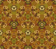 Abstract seamless pattern, background. Graphic mosaic. Geometric elements, painted in vintage colors. Useful as design element for texture and artistic Royalty Free Stock Photography