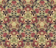 Abstract seamless pattern, background. Graphic mosaic. Geometric elements, painted in vintage colors. Useful as design element for texture and artistic Stock Image