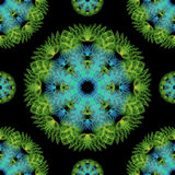 Abstract seamless pattern background. Green flower Stock Images