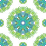 Abstract seamless pattern background. Green flower Royalty Free Stock Photography