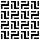 Abstract seamless pattern background. Maze of black geometric design elements isolated on white background. Vector Stock Photo